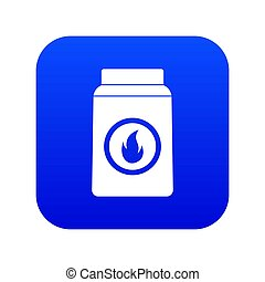 blauwe , matchbox, pictogram, digitale