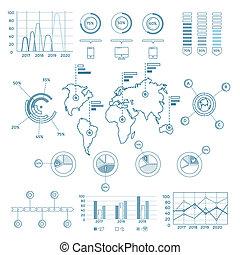 blauwe , media, infographic, communie, sociaal
