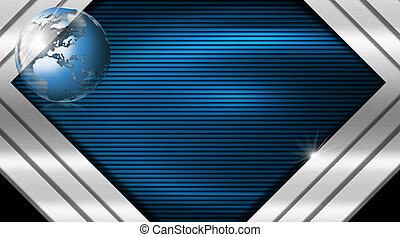 blauwe , metaal, visitekaartje