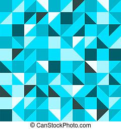 blauwe , model, driehoek, seamless