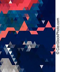 blauwe , model, driehoeken, sinaasappel
