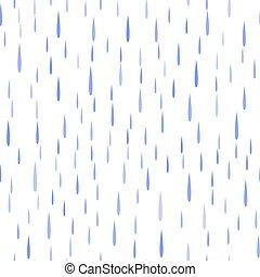 blauwe , model, druppels, seamless, regen