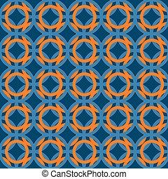 blauwe , model, sinaasappel, japanner, colors.