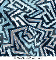 blauwe , model, strepen, seamless