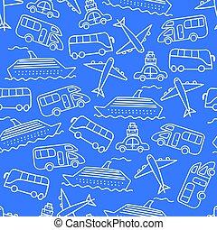 blauwe , model, vervoeren, achtergrond, seamless