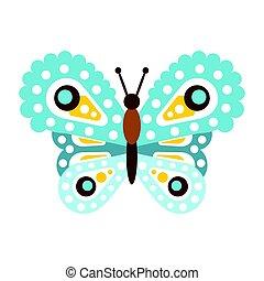 blauwe , mooi, vlinder, licht, illustratie, vector