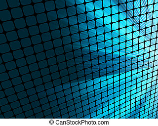 blauwe , mosaic., stralen, licht, eps, 8, 3d