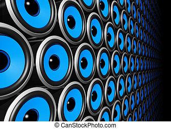 blauwe muur, sprekers