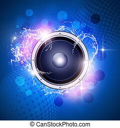 blauwe , muziek, achtergrond