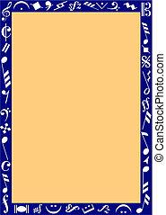 blauwe , muziek, grens, tekens & borden