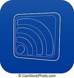 blauwe , netwerk, meldingsbord, draadloos, vector, pictogram