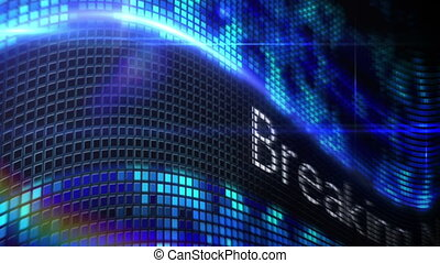 blauwe , nieuws, boodschap, verbreking, pixel