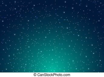 blauwe , oneindigheid, starlight, ruimte, starry, avond lucht, achtergrond., sterretjes, planeet, heelal, kosmos, pattern., melkweg, het glanzen
