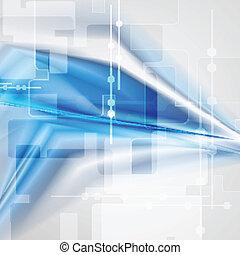 blauwe , ontwerp, kleurrijke, technologie