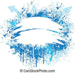 blauwe , ontwerp, witte , grunge