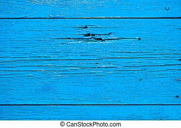blauwe , oud, geverfde, verf , van hout grondslagen
