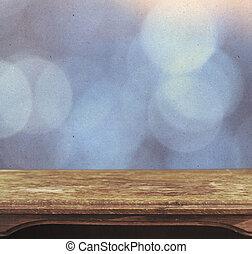 blauwe , ouderwetse , bokeh, achtergrond, tafel, patten