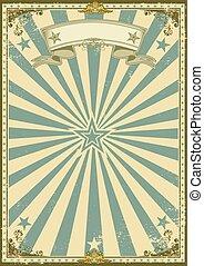 blauwe , ouderwetse , certificaat, achtergrond