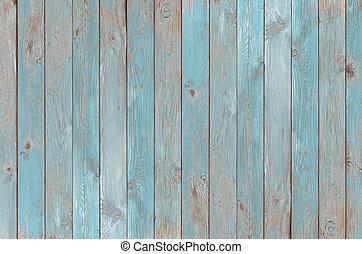 blauwe , ouderwetse , hout, grondslagen, textuur, of,...