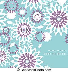 blauwe , paarse , model, abstract, achtergrond, floral, hoek, frame