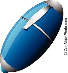 blauwe pen, witte , vrijstaand, achtergrond