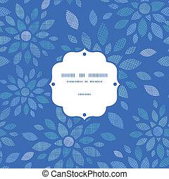 blauwe , peony, model, frame, seamless, textiel, achtergrond, bloemen