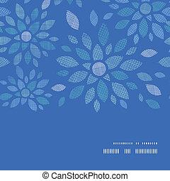 blauwe , peony, model, frame, seamless, textiel, achtergrond, horizontaal, bloemen
