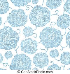 blauwe , peony, model, seamless, textiel, achtergrond, bloemen