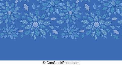 blauwe , peony, model, seamless, textiel, achtergrond, horizontaal, bloemen