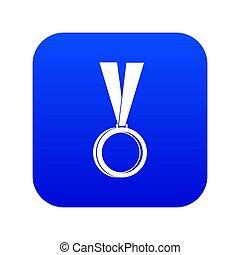 blauwe , pictogram, medaille, digitale
