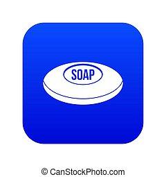 blauwe , pictogram, zeep, digitale