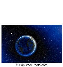 blauwe planeet, marmer, aarde
