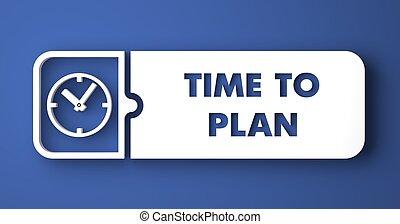 blauwe , plat, knoop, plan, tijd, design.