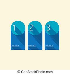blauwe, plat, moderne, Ontwerp, modieus, spandoek
