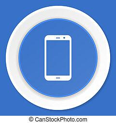 blauwe, plat,  smartphone,  web, moderne, Ontwerp, pictogram