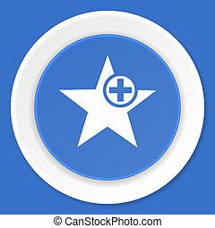 blauwe, plat, ster,  web, moderne, Ontwerp, pictogram
