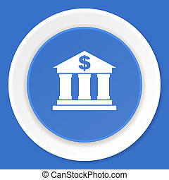 blauwe, plat,  web, moderne, Ontwerp,  bank, pictogram