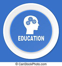 blauwe, plat,  web, moderne, Ontwerp, opleiding, pictogram