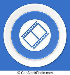 blauwe, plat,  web, moderne, Ontwerp,  film, pictogram