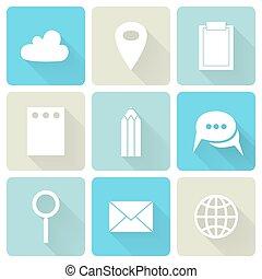 blauwe , plat, zakenbeelden