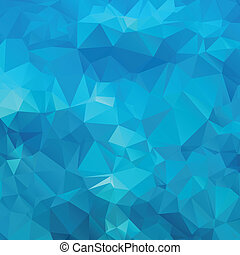 blauwe , polygon., abstract, achtergrond
