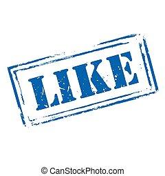 blauwe , postzegel, vector, grunge, zoals