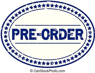 blauwe , pre, grunge, postzegel, rubber, achtergrond, zeehondje, ovaal, witte , order