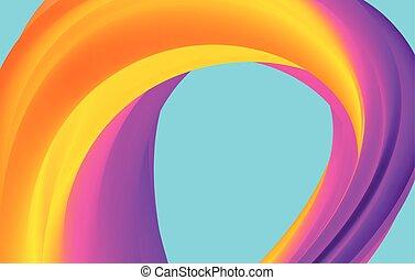 blauwe , regenboog, abstract, achtergrond., model