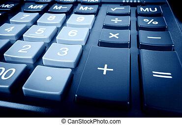 blauwe , rekenmachine
