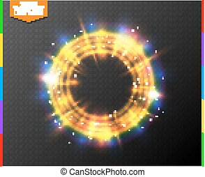blauwe ring, magisch, kleurrijk licht, abstract, neon, effect, achtergrond., gloeiend, portaal, doorschijnend, semitransparent, spotlight., lijn, transparant, bijzondere , gloed