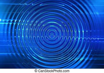 blauwe , ripples, achtergrond