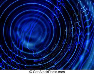 blauwe , ripples