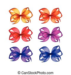 blauwe , roze, set, paarse , gele, buigingen, sinaasappel, rood