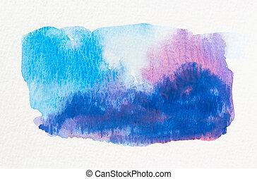 blauwe , roze, watercolor, nat